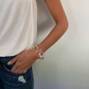 LILLY BRACELET IN CLEAR LUCITE