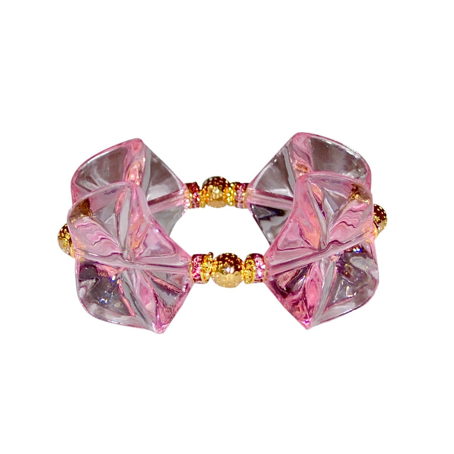 LILLY BRACELET IN PINK LUCITE