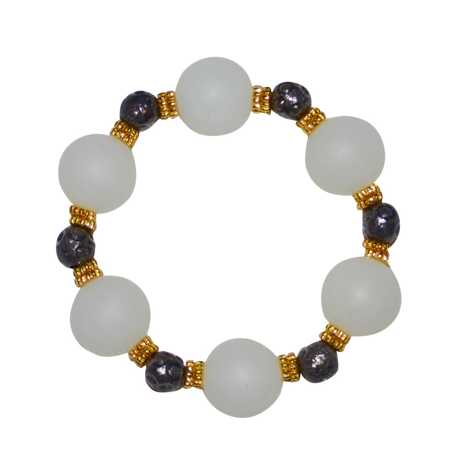 TESSA STATEMENT BRACELET IN CLEAR AND GUNMETAL