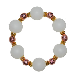 TESSA STATEMENT BRACELET IN CLEAR AND ROSE GOLD