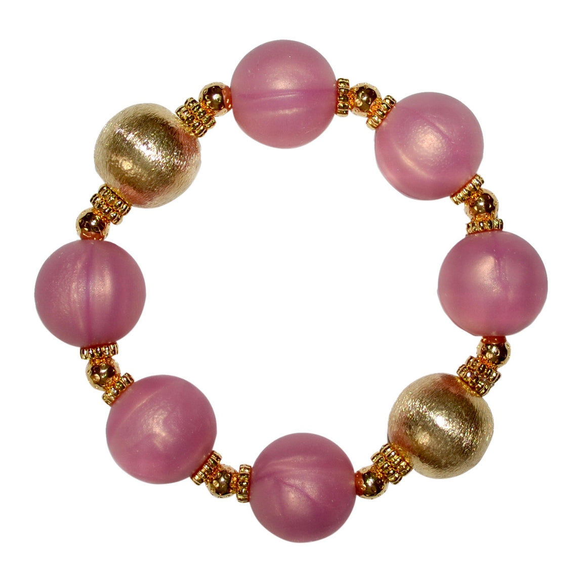 TESSA STATEMENT BRACELET IN ROSE PINK AND GOLD
