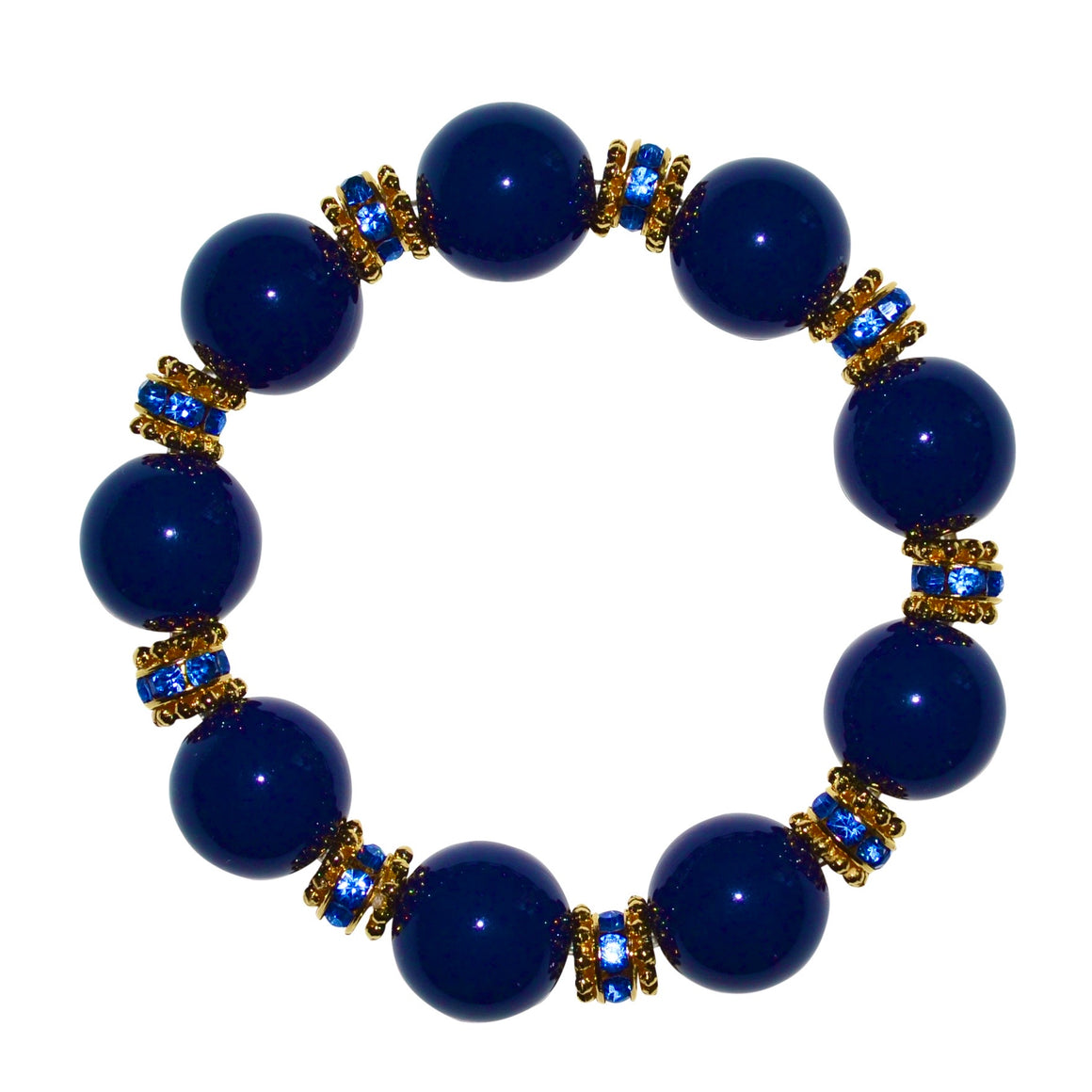 ANYTIME BANGLE IN NAVY BLUE