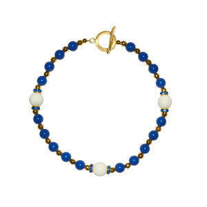 TATE HUDSON GUMBALL NECKLACE IN DARK BLUE