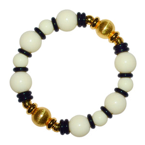 VIVIENNE BANGLE IN IVORY AND BLACK