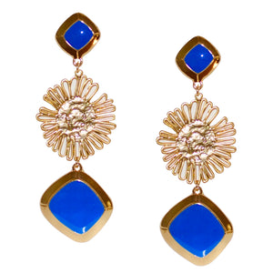 ANGELICA DANGLE EARRING IN BLUE