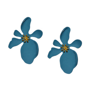 Evelyn Flower Earring in Teal
