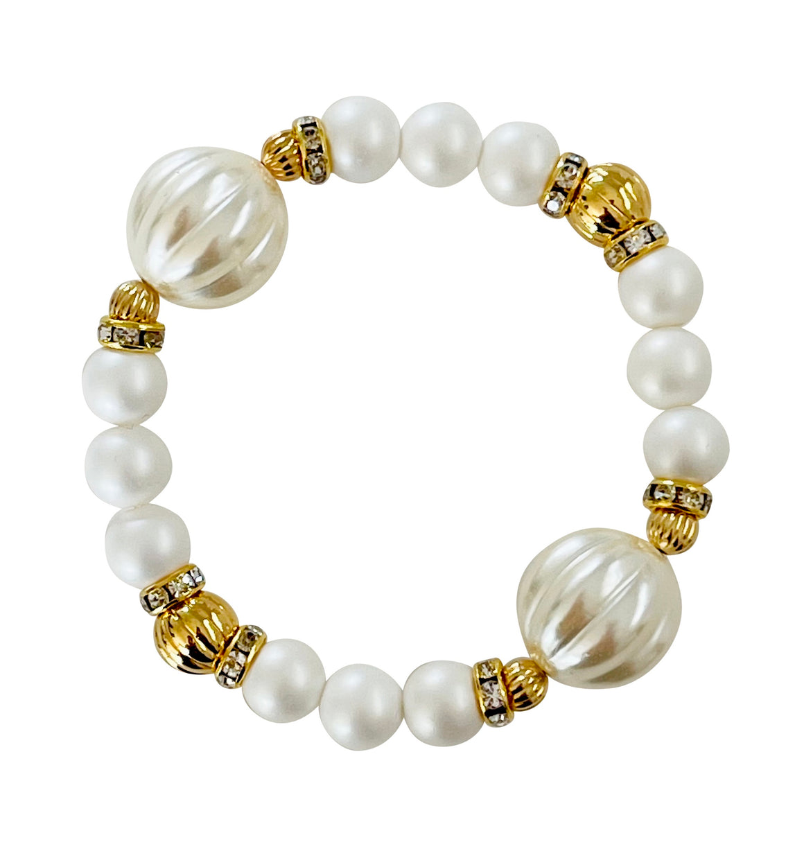 SPIRAL AND PEARL BANGLE IN IVORY