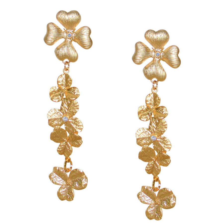 FRESIA LONG FLOWER EARRING