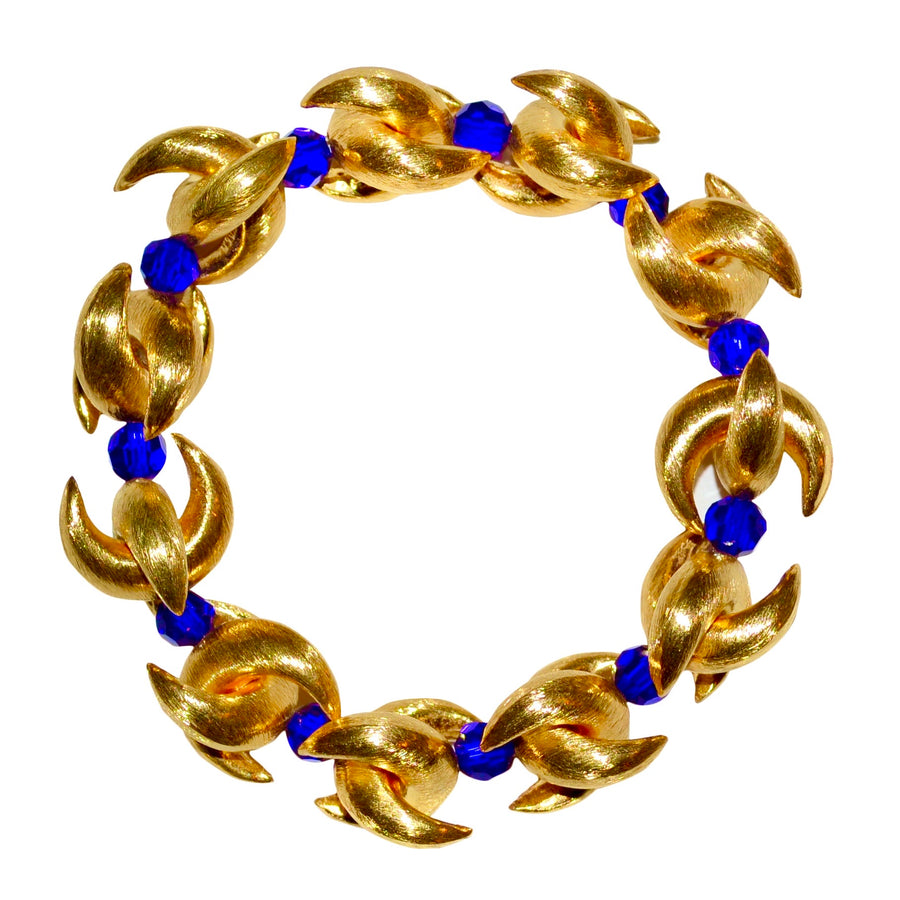 LUNA BANGLE IN GOLD AND DARK BLUE