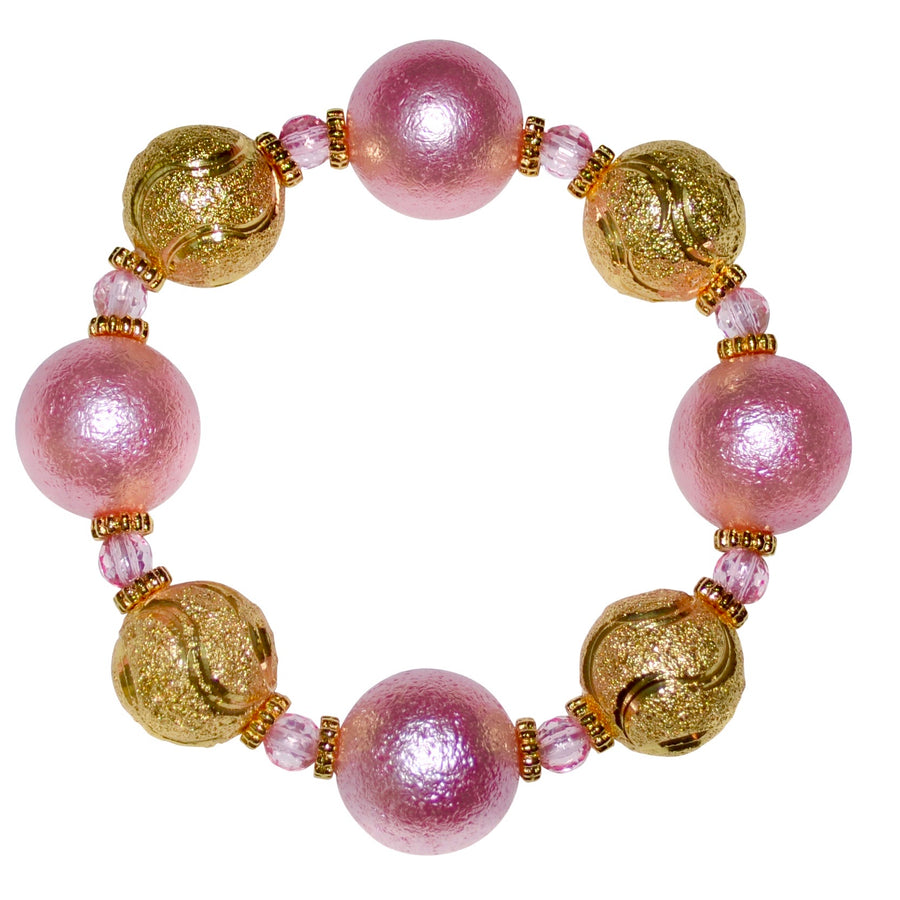 HARPER STATEMENT BRACELET IN PINK AND GOLD