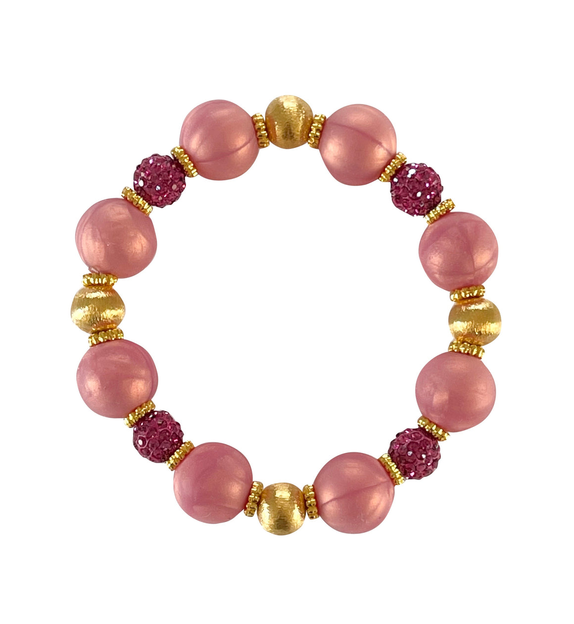 SPRING BANGLE IN ROSE AND FUSCHIA