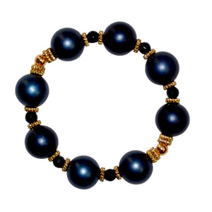 VIVIENNE BANGLE IN MIDNIGHT MATTE PEARL