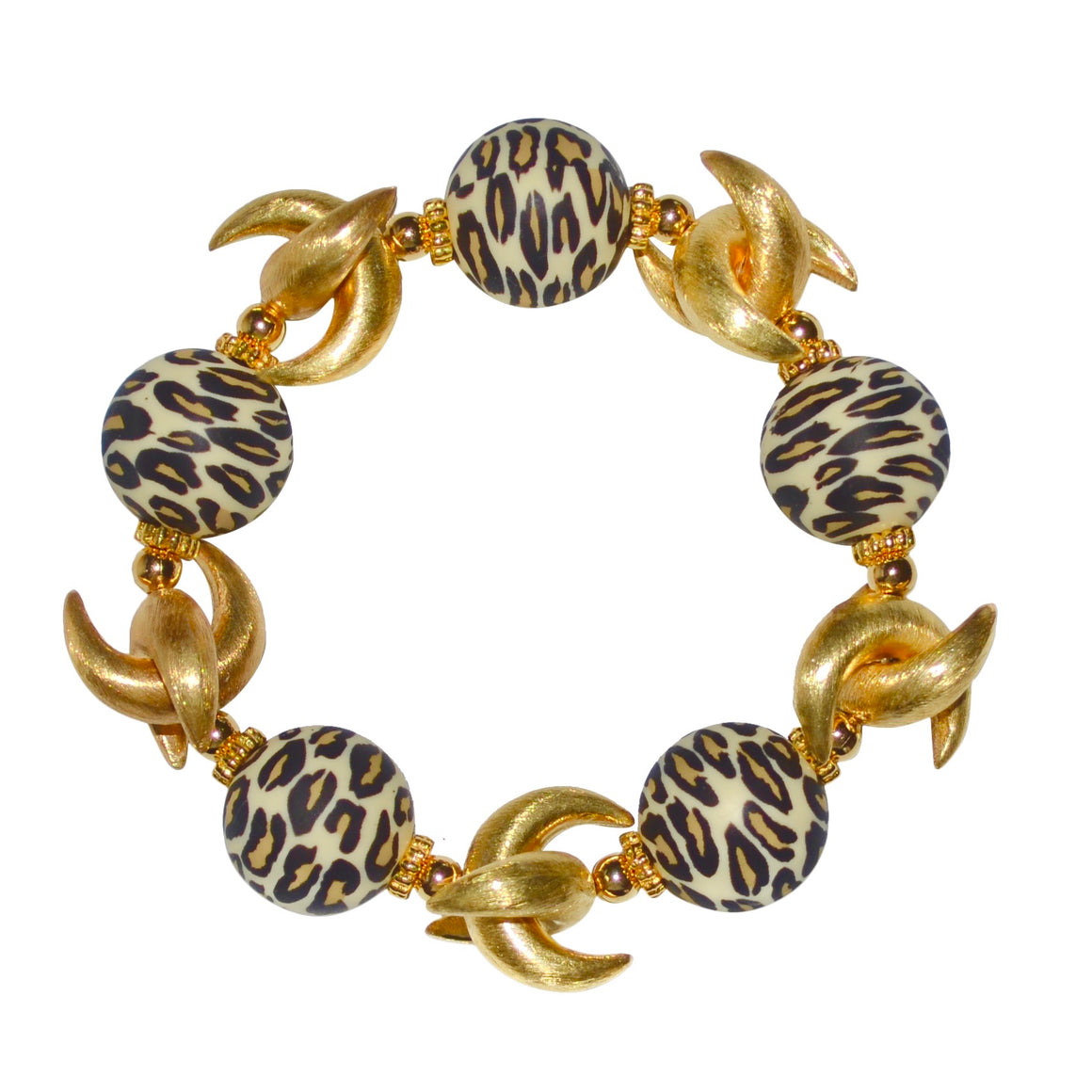 LUNA BANGLE IN LEOPARD