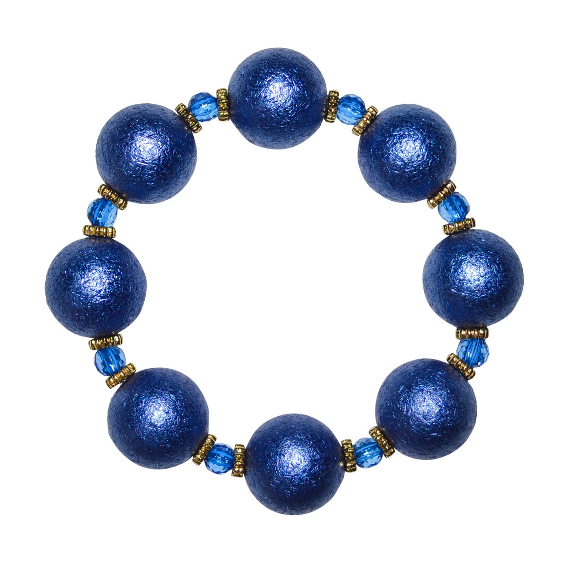 ARIA STATEMENT BRACELET IN COBALT WRINKLE PEARL