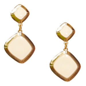 MEREDITH DROP EARRING IN IVORY