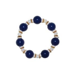 TATE HUDSON BANGLE IN SHINY NAVY BLUE AND WHITE