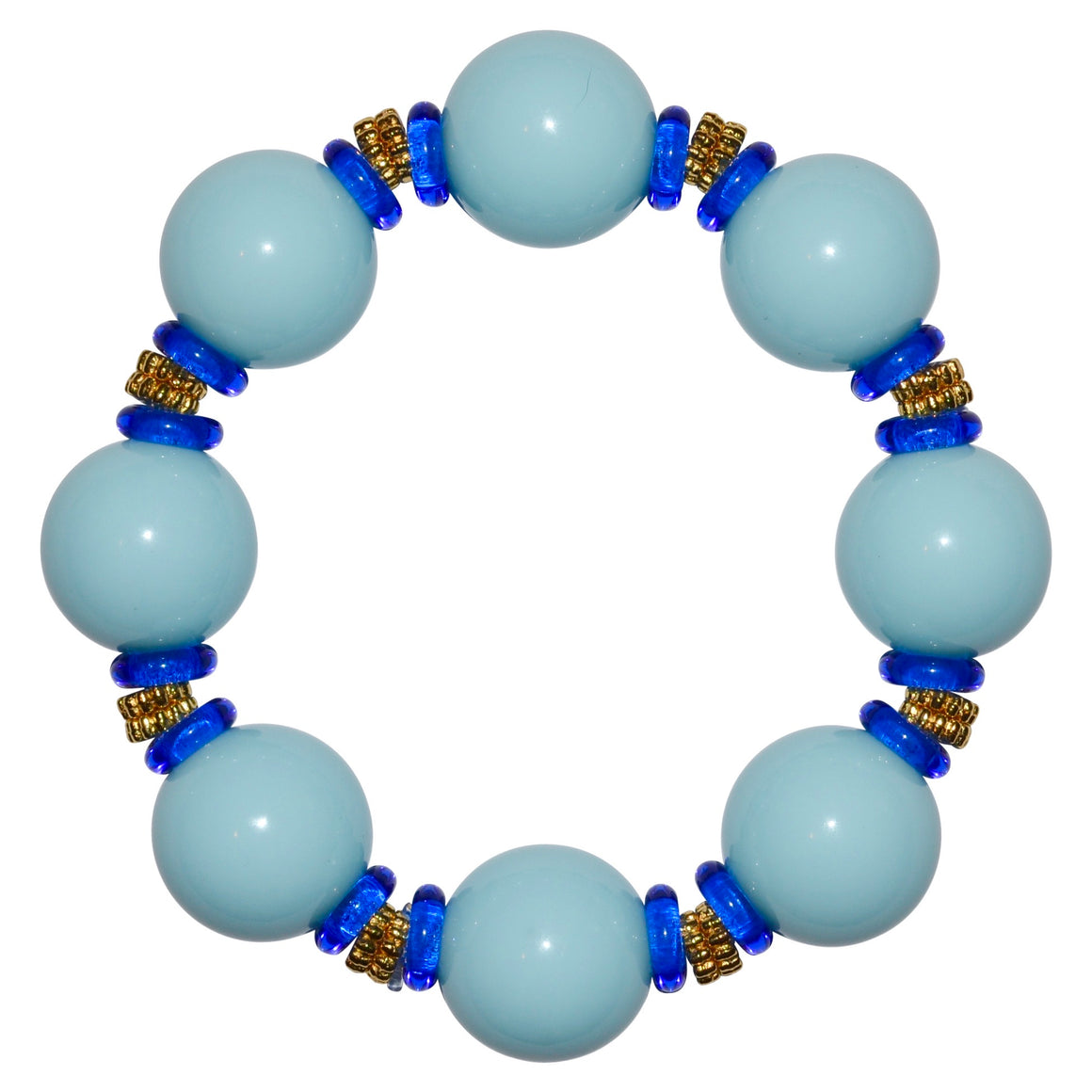 VIVIENNE STATEMENT ANYTIME BRACELET IN LIGHT BLUE