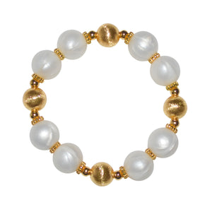 JESSA BANGLE IN GOLD AND IVORY