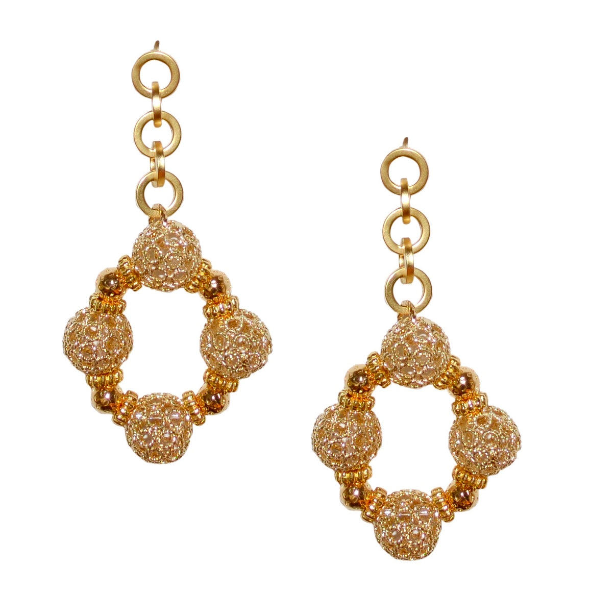 SANDY TEXTURED DROP EARRING
