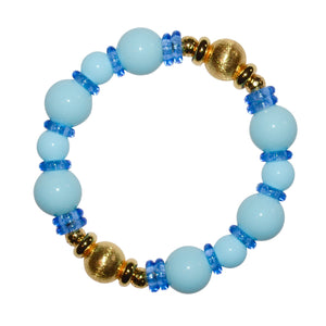 VIVIENNE BANGLE IN LIGHT BLUE