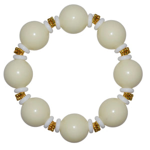 VIVIENNE STATEMENT ANYTIME BRACELET IN IVORY WITH WHITE