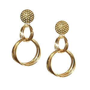 SAMANTHA DOUBLE RINGS EARRING