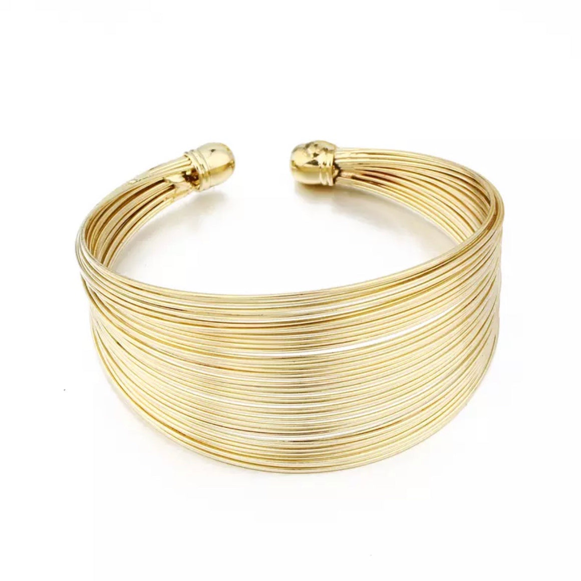 SMALL WIRE WRAPPED GOLD CUFF