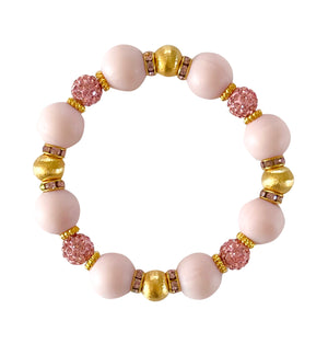 SPRING BANGLE IN LIGHT PINK