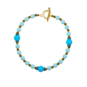 TATE HUDSON GUMBALL NECKLACE IN LIGHT BLUE
