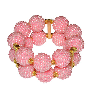 SCARLETT STATEMENT CUFF IN TEXTURED PINK