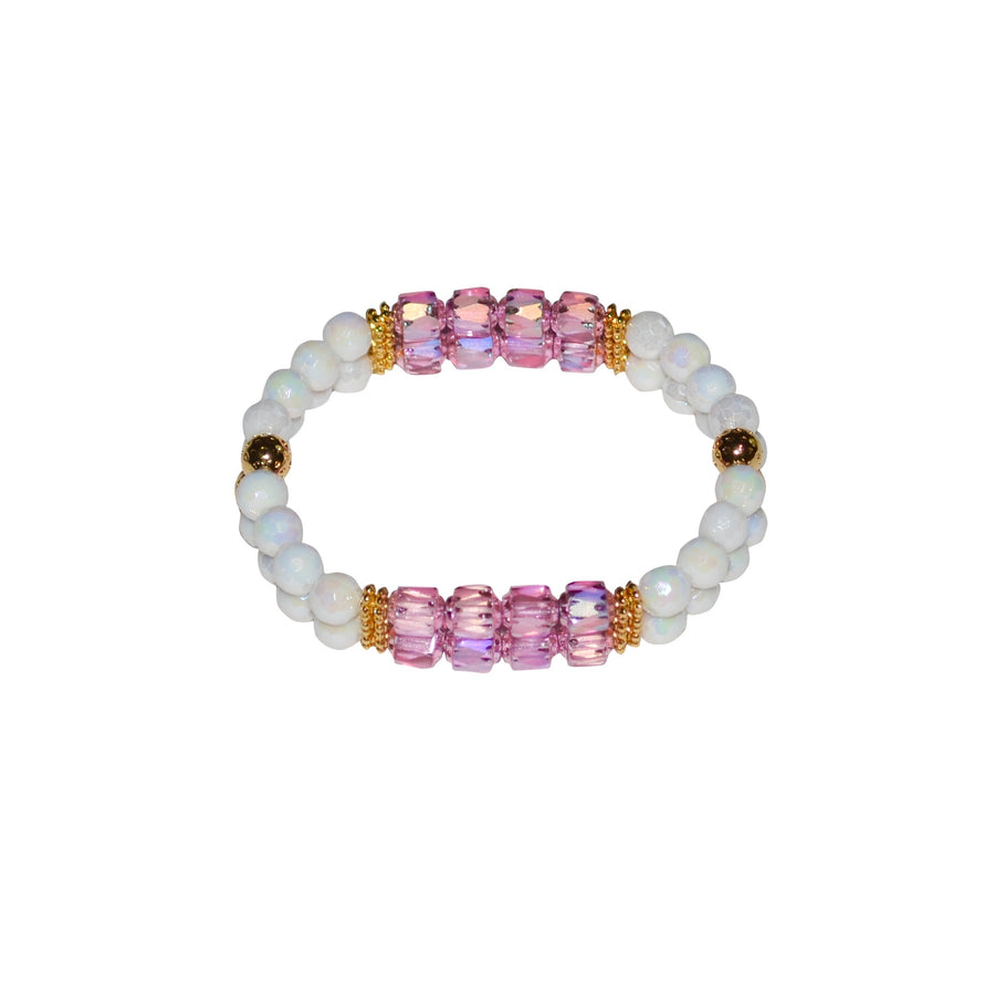 TATE HUDSON MINI CUFF IN WHITE AND ROSY PINK