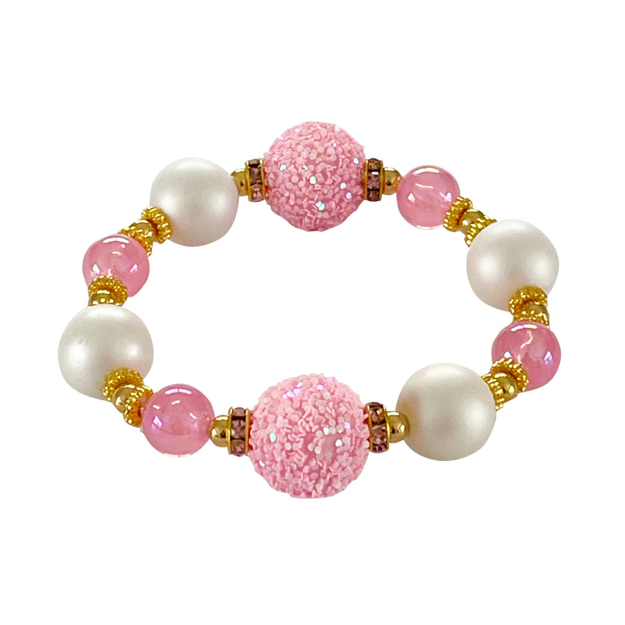 TEGGY BANGLE IN SPARKLY PINK AND IVORY