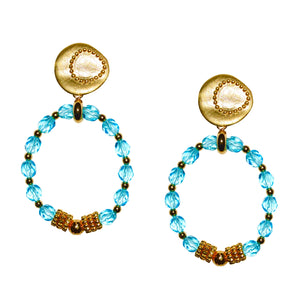 GRETCHEN LUCITE EARRING IN LIGHT TURQUOISE