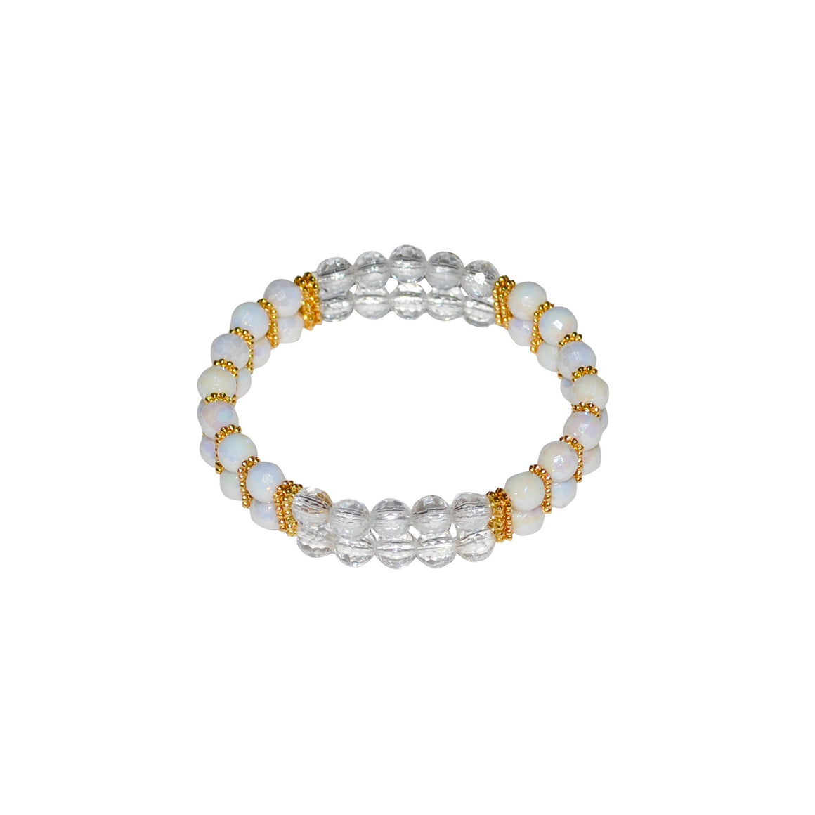 TATE HUDSON MINI CUFF IN WHITE AND LUCITE