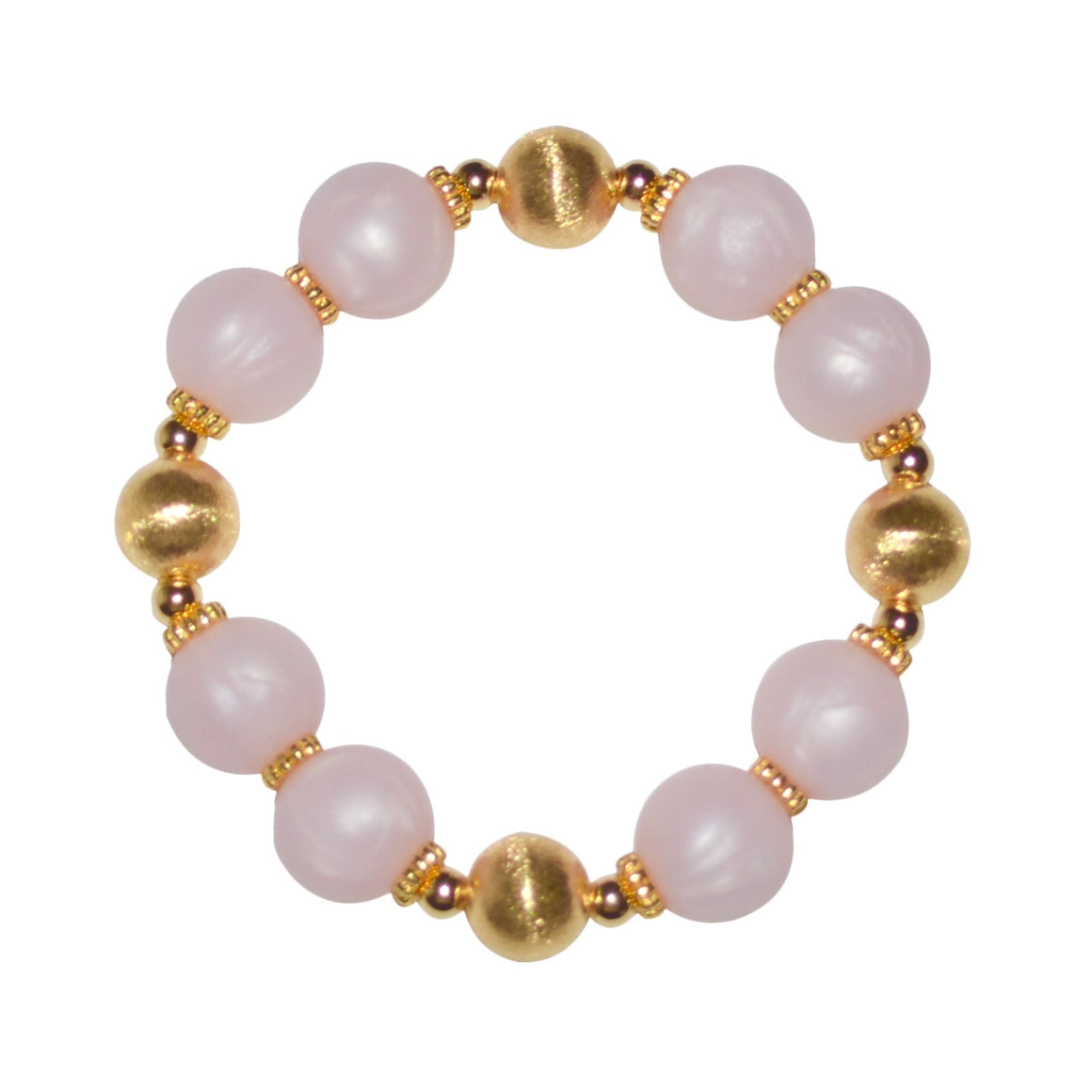 JESSA BANGLE IN GOLD AND LIGHT PINK