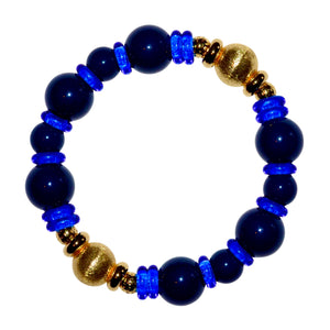 VIVIENNE BANGLE IN NAVY BLUE