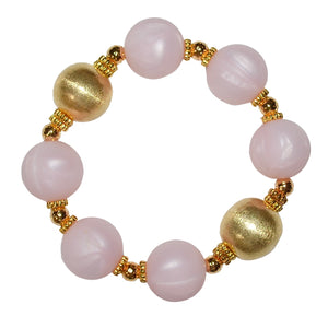 TESSA STATEMENT BRACELET IN LIGHT PINK AND GOLD