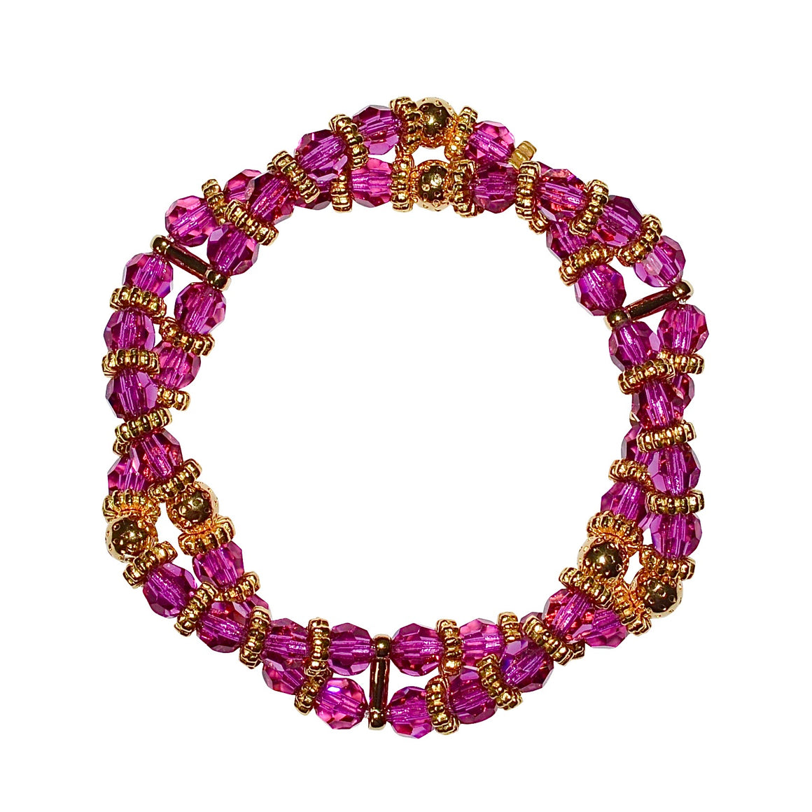 BIANCA LUCITE TWISTED BRACELET IN FUCHSIA