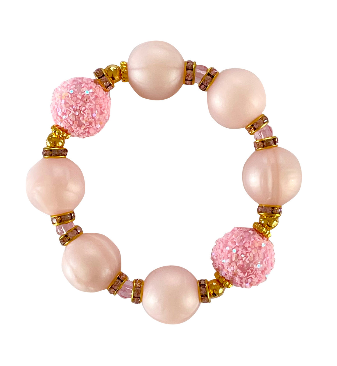 SPRING STATEMENT BRACELET IN LIGHT PINK