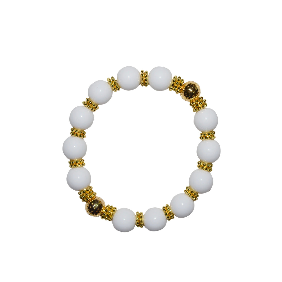 TATE HUDSON BANGLE IN WHITE