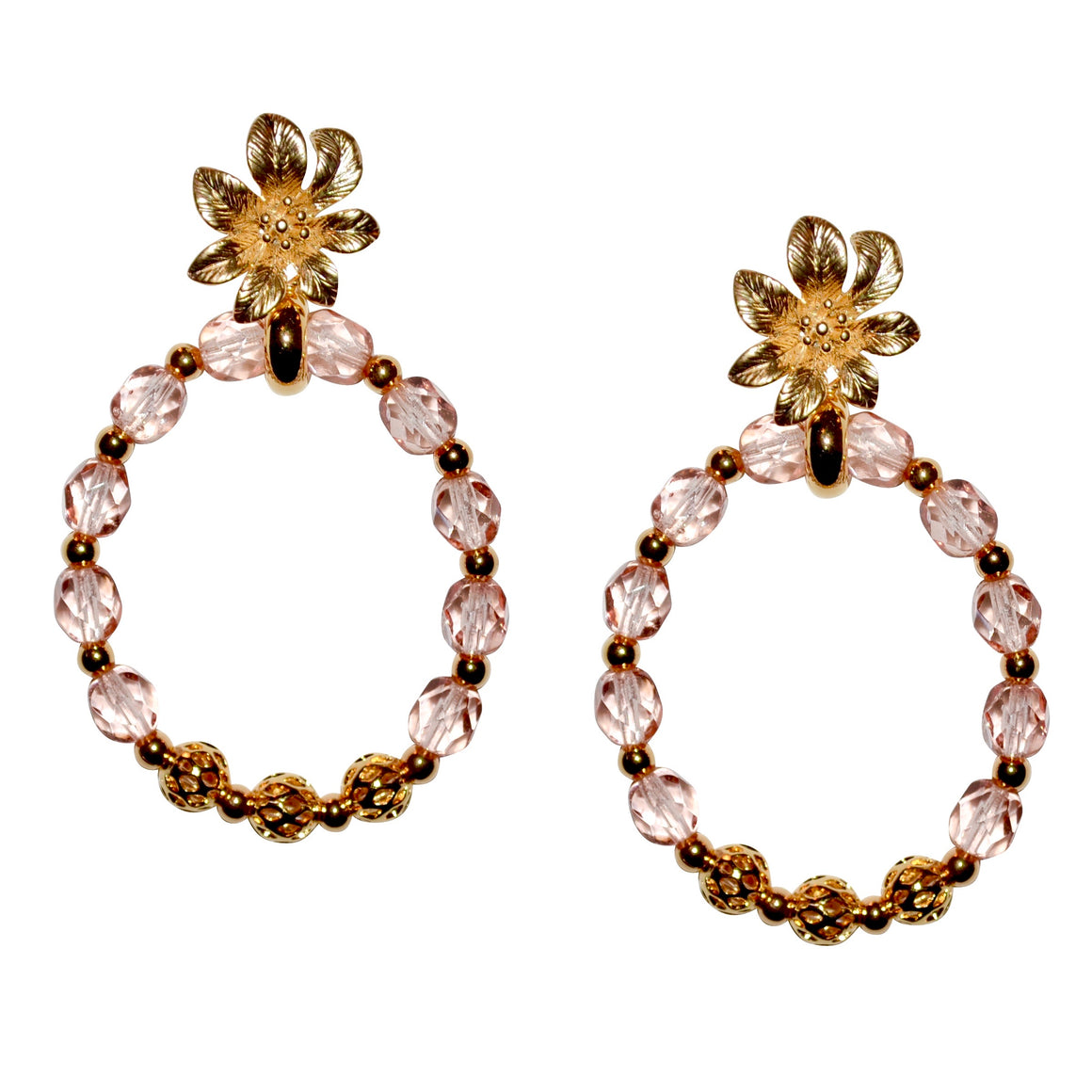 DOROTHY PINEAPPLE EARRING IN LIGHT PINK