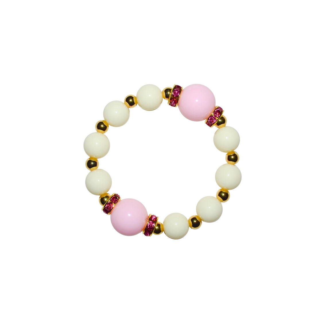 TATE HUDSON BRACELET IN IVORY AND PINK