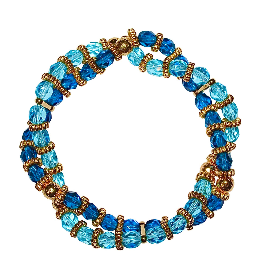 BIANCA LUCITE TWISTED BRACELET IN AQUA