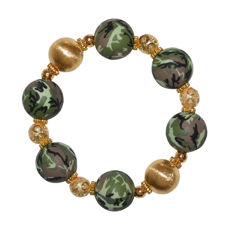 TESSA STATEMENT BRACELET IN CAMO AND GOLD