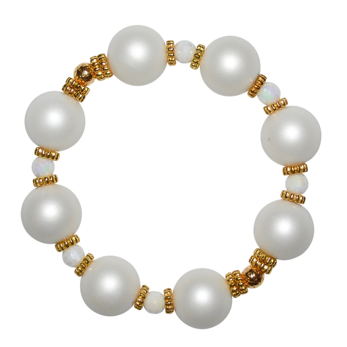 VIVIENNE BANGLE IN IVORY MATTE PEARL