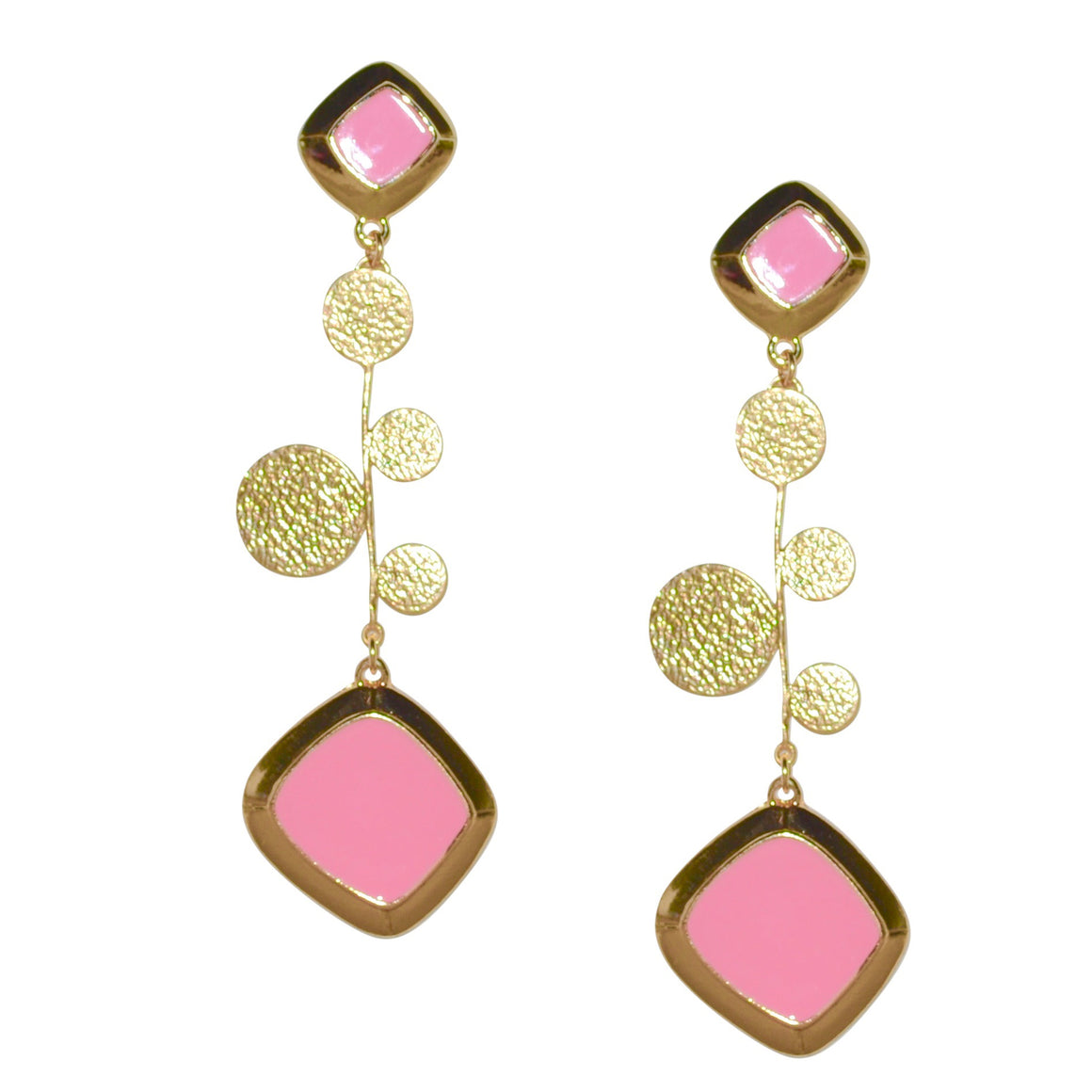 FAXON LONG EARRING IN PINK