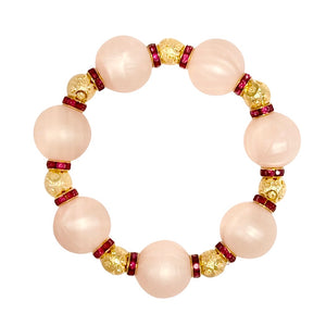VALENTINES STATEMENT BRACELET IN LIGHT PINK AND DEEP RED CRYSTAL