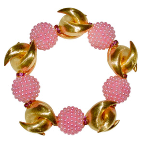 MADISON STATEMENT BRACELET IN PINK AND GOLD