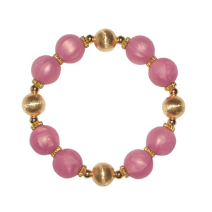 JESSA BANGLE IN GOLD AND ROSE PINK