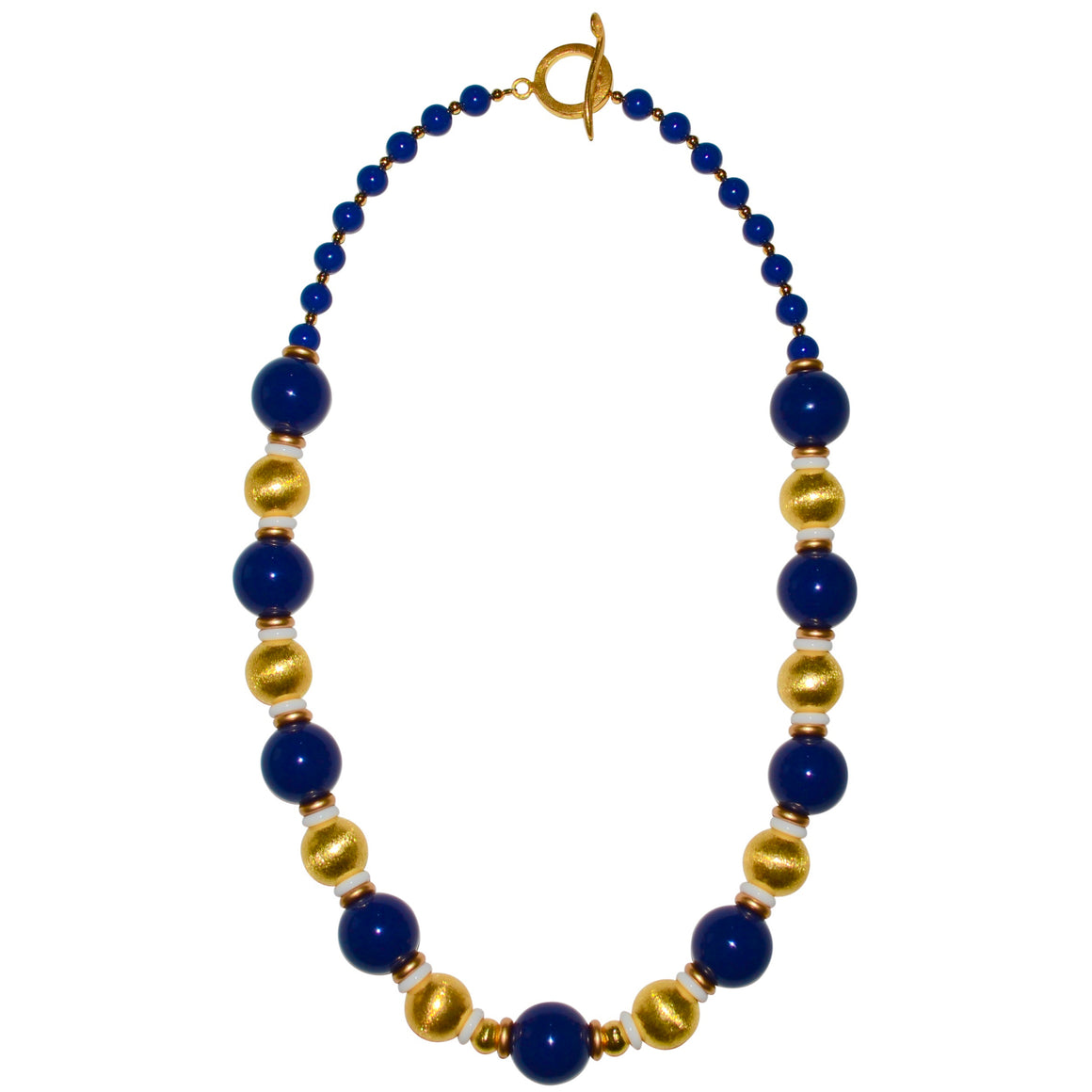BLAKE LONG NECKLACE IN NAVY BLUE